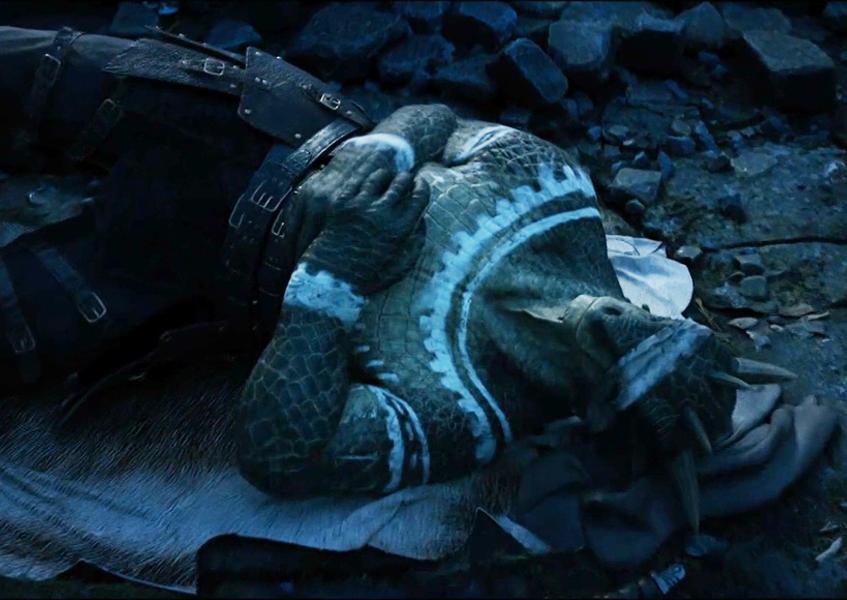 Oblivion Teaser Trailer Image 1 Argonian taking a nap