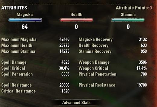 Necromancer Healer Build buffed stats ESO30