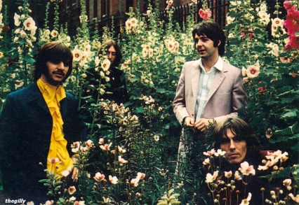 The Beatles at St. Pancras Old Church and Gardens in London