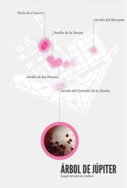 Mapa de localización en el Real Alcázar de Sevilla