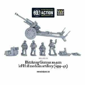 Blitzkrieg German 10.5cm leFH 18 medium artillery (1939-42)