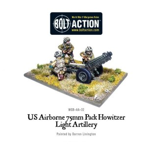 US Airborne 75mm Pack Howitzer Light Artillery