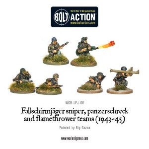 Fallschirmjager sniper, panzerschreck and flamethrower teams (1943-45)