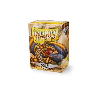 Dragon Shield Matte Sleeves Gold 100