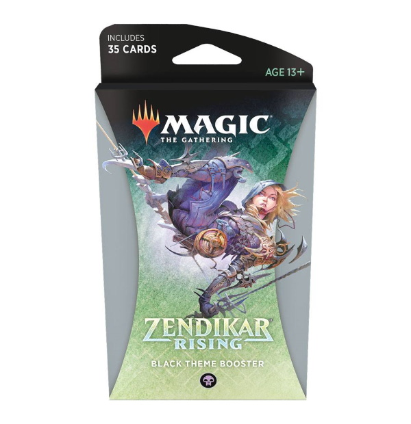 Magic the Gathering: Zendikar Rising Black Themed Booster