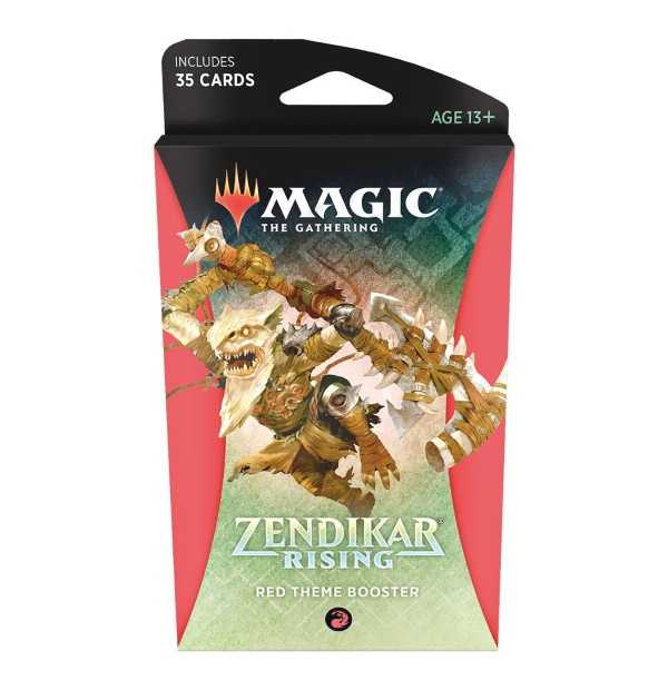 Magic the Gathering: Zendikar Rising Red Themed Booster