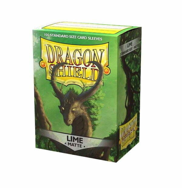 Dragon Shield Matte Sleeves Lime 100