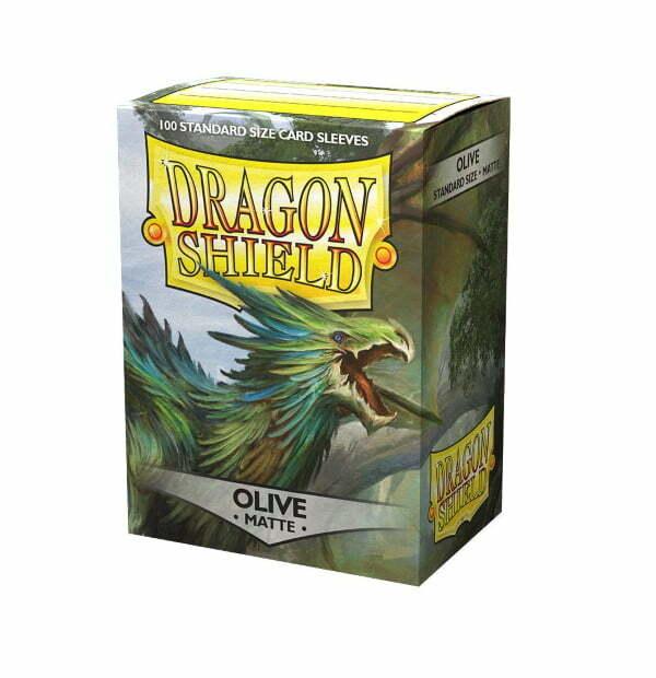 Dragon Shield Matte Sleeves Olive 100