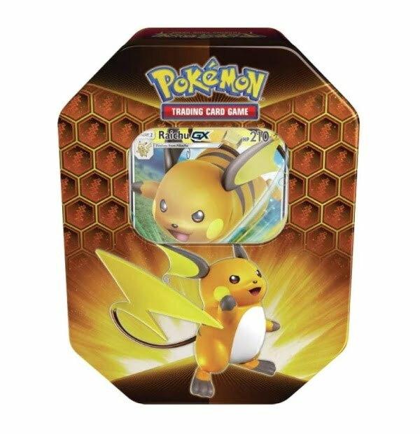 Pokémon Trading Card Game: Hidden Fates Raichu GX Tin