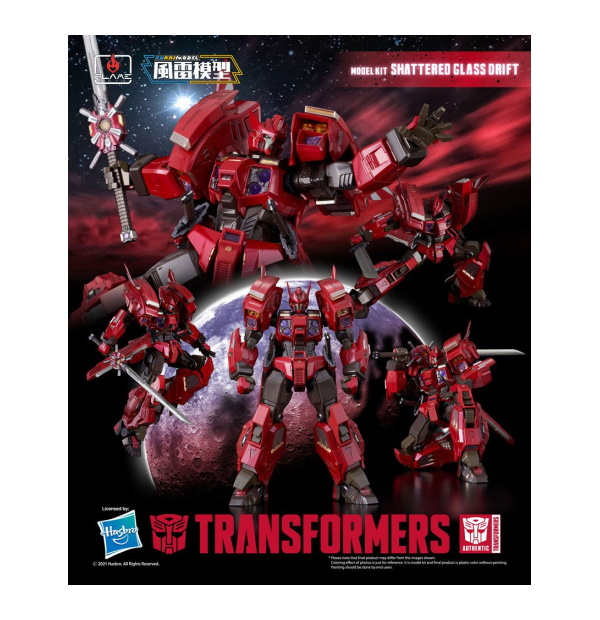 Transformers Furai Model Kit Shattered Glass Drift 16 cm