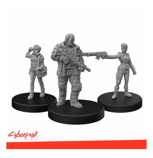 Cyberpunk RED Miniatures - Edgerunners D