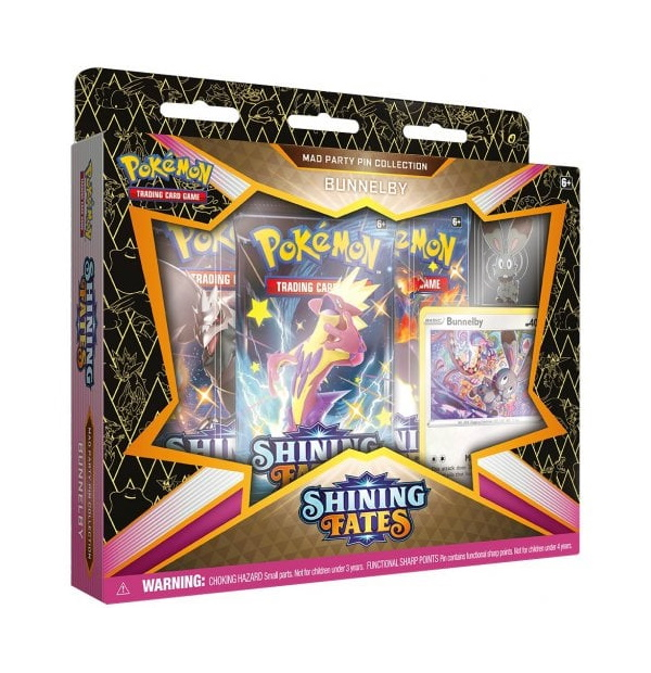 Pokémon Trading Card Game: Shining Fates Bunnelby Mad Party Pin Collection
