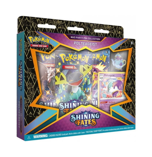 Pokémon Trading Card Game: Shining Fates Polteageist Mad Party Pin Collection