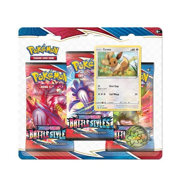 Pokémon Trading Card Game: Sword and Shield – Battle Syles 3 Pack Blister Eevee