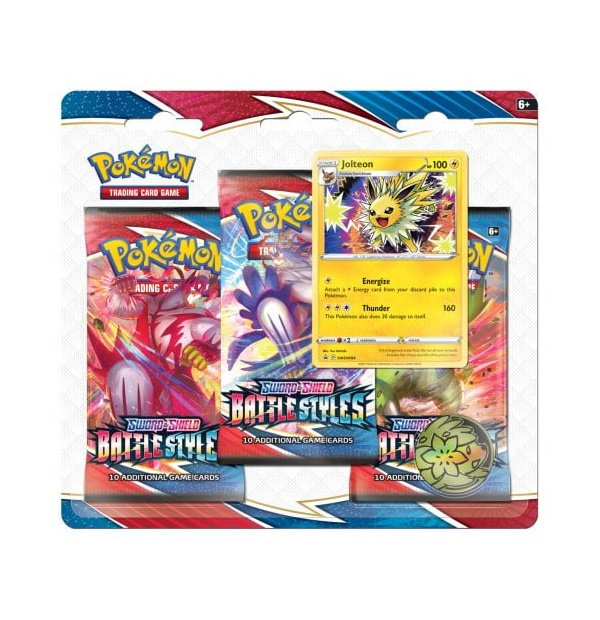 Pokémon Trading Card Game: Sword and Shield - Battle Styles 3 Pack Blister Jolteon