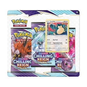 Pokémon Trading Card Game: Sword and Shield - Chilling Reign 3 Pack Blister Snorlax