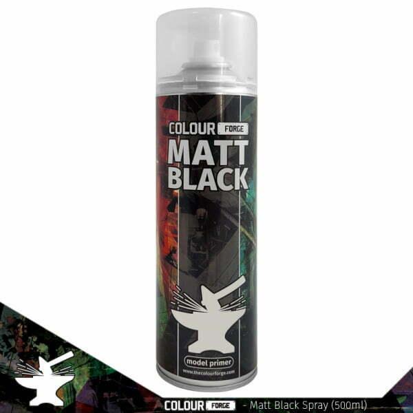 Colour Forge Matt Black Spray (500ml)