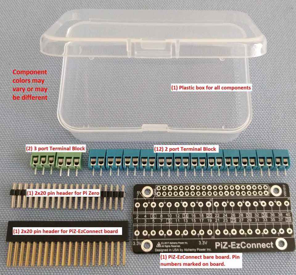 PiZ-EzConnect KIT- customize your GPIO connector - Alchemy