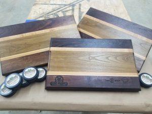 Walnut and Sassafras Cutting Board