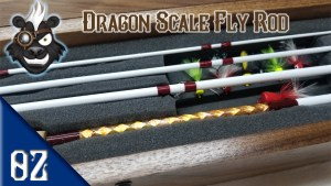 Custom Fly rod with Dragon Scale Wrap