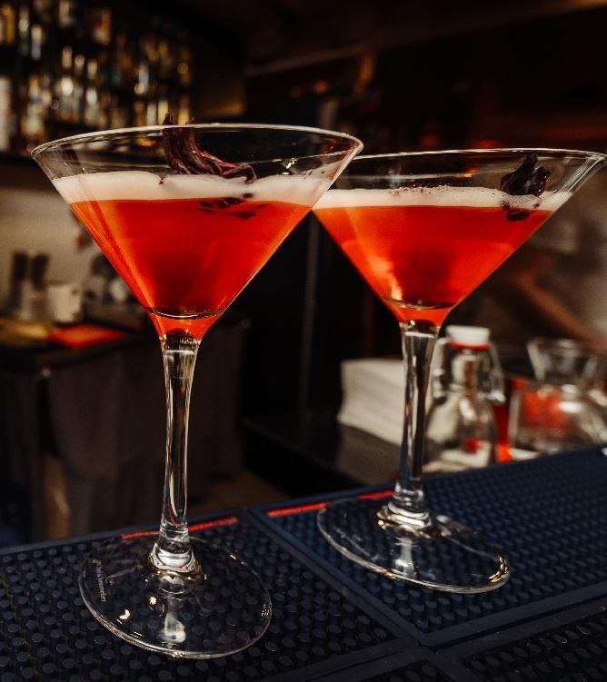 Sprite қосылған қызғылт мартини