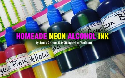How to Make Alcohol Ink :  Neon Alcohol Ink