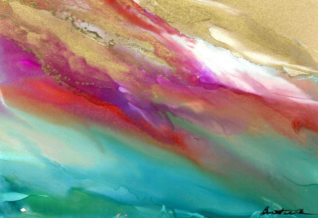 Alcohol Ink by  Alexis Bonavitacola