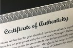 Certificate of Authenticity – Preparing Art and Prints