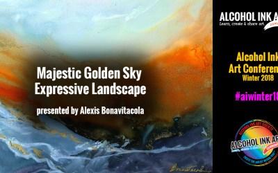 Creating a Majestic Golden Sky Expressive Landscape