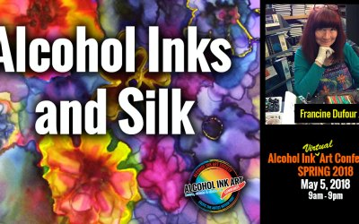 Alcohol Inks and Silk