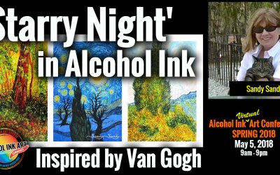 Starry Night in Alcohol Ink
