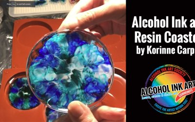 Alcohol Ink and Resin Coasters