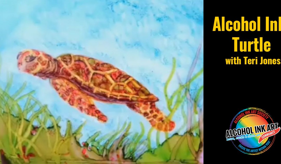 How to Paint Turtle in Alcohol Ink