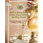 ACW's Bring Hope Home Inspirational Holiday Event