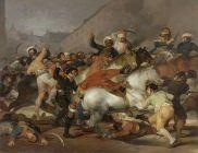 De Francisco de Goya. Representa la rebelión española contra los mamelucos egipcios del ejército francés, en Madrid el 2 de Mayo de 1808, tras la renuncia de Fernando VII.