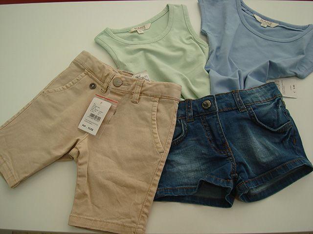 Camisetas básicas niñ@s a 6,95€ y 9,95€. Short niño a 15,95e y bermuda niñ@ a 15,95€. Desde talla 2 a 12.