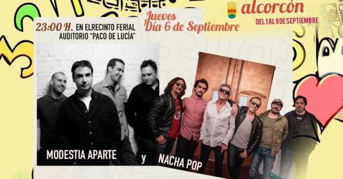 Modestia Aparte y Nacha Pop tocarán en las Fiestas de Alcorcón 2018