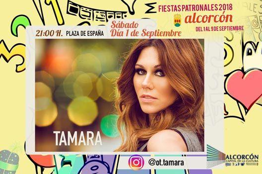 Fiestas de Alcorcón 2018 - Concierto Tamara