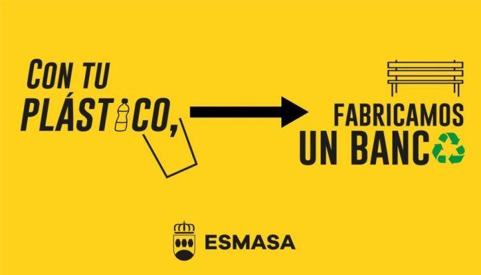 Alcorcón estrena bancos de plástico 100% reciclados