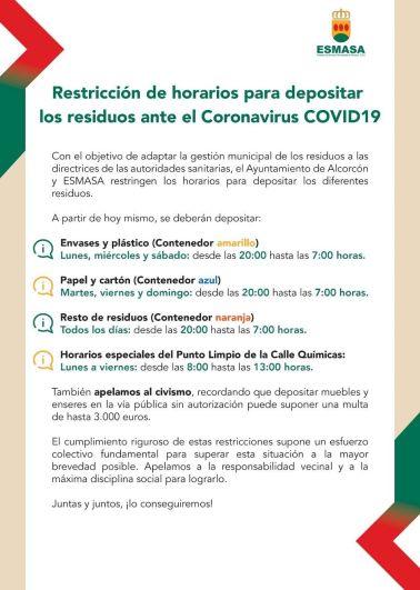 Recogida de basuras Alcorcón