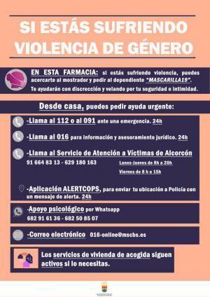 """""""Mascarilla 19"""" en Alcorcón contra la Violencia de Género"""