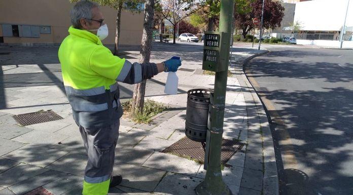 Jesús Santos agradece la lucha contra el coronavirus a los trabajadores de ESMASA Alcorcón