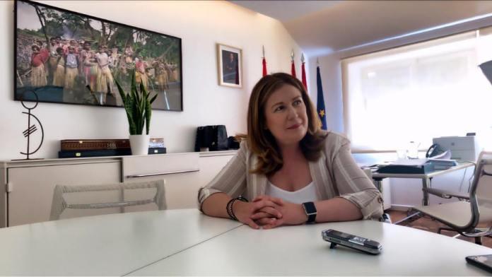 "Natalia de Andrés ""Esa plaza de Alcorcón no podía ser un manifestódromo"""
