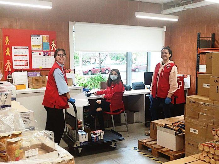 Cruz Roja recibe nuevas donaciones de empresas de Alcorcón