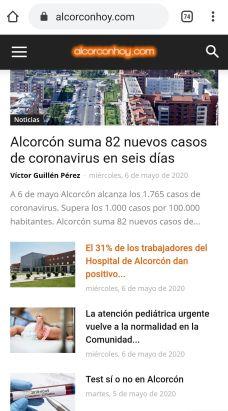 Alcorconhoy.com registra más de 1.100.000 visitas en dos meses