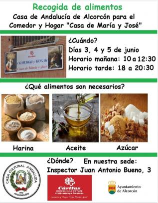 Recogida de alimentos en Alcorcón