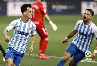 Málaga 2-0 AD Alcorcón/ El Alcorcón se despierta del sueño del playoff