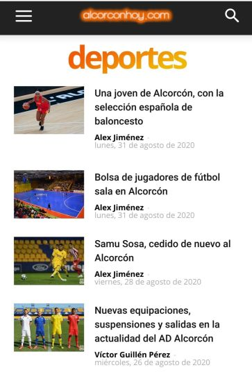 Alcorconhoy.com suma más de 900.000 visitas en agosto