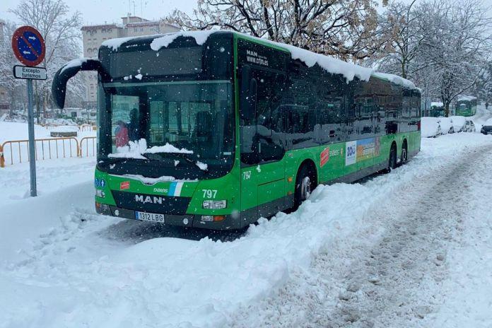 Restablecido el servicio de autobuses en Alcorcón tras Filomena: así quedan las rutas