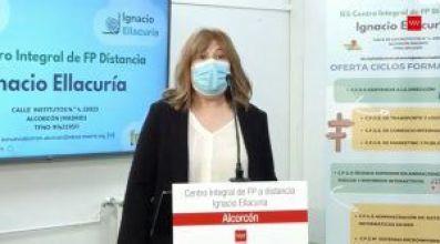 """Isabel Díaz Ayuso visita el Ignacio Ellacuría de Alcorcón, que será """"referencia"""" en formación profesional en España"""